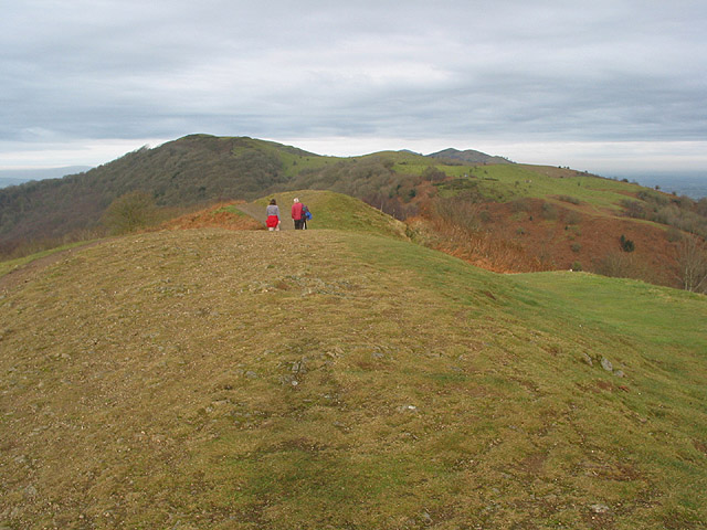 Walkers heading north from Swinyard Hill