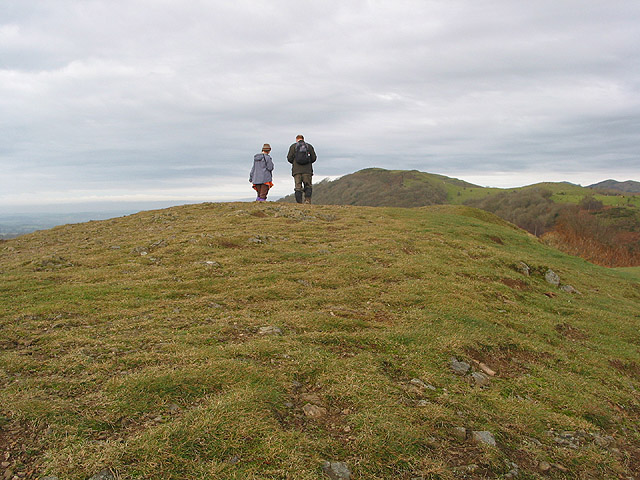 Walkers on the summit of Swinyard Hill