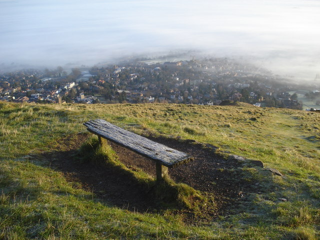 Seat on the Worcestershire Beacon