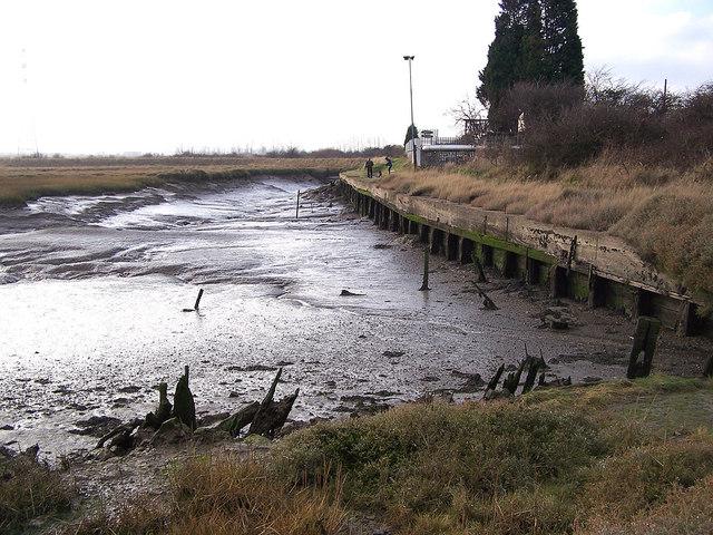 Old wharf in Milton Creek