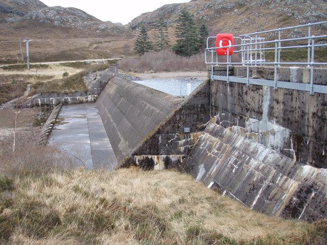 Loch Bad an Sgalaig Dam