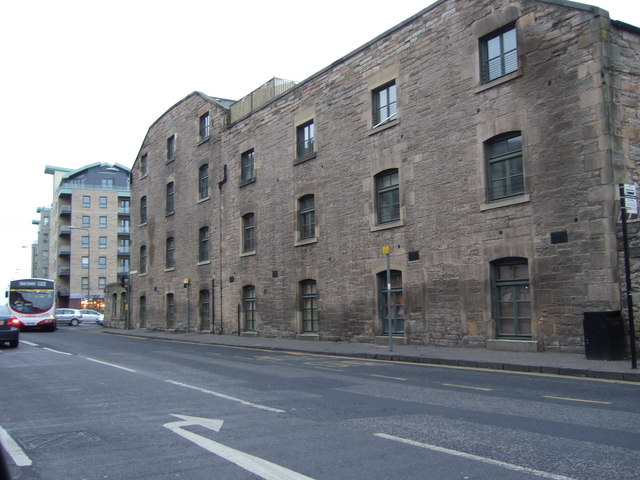 An old docks warehouse, North Leith