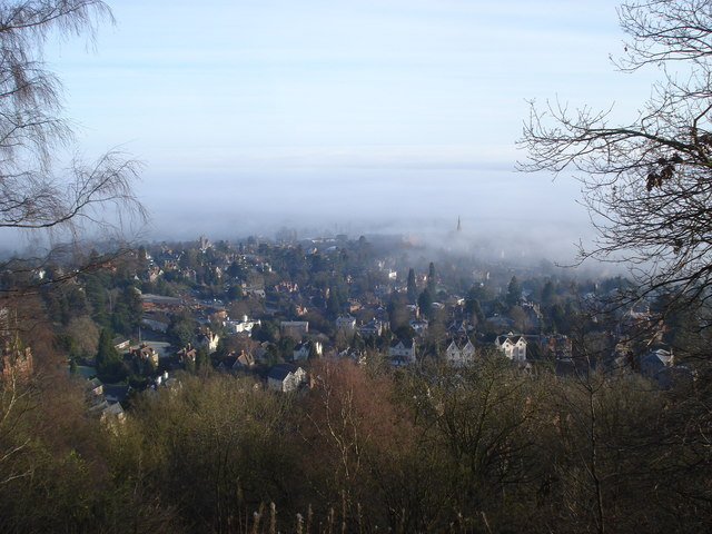 Great Malvern in the mist