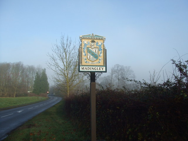 Madingley village sign