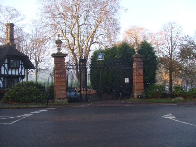 Madingley Hall, the iron gates