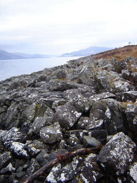 Coastline with Corran ferry crossing in distance