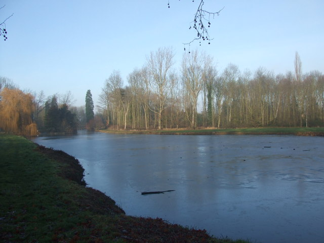 Madingley Hall, the lake
