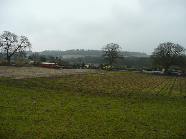 View south of the A53