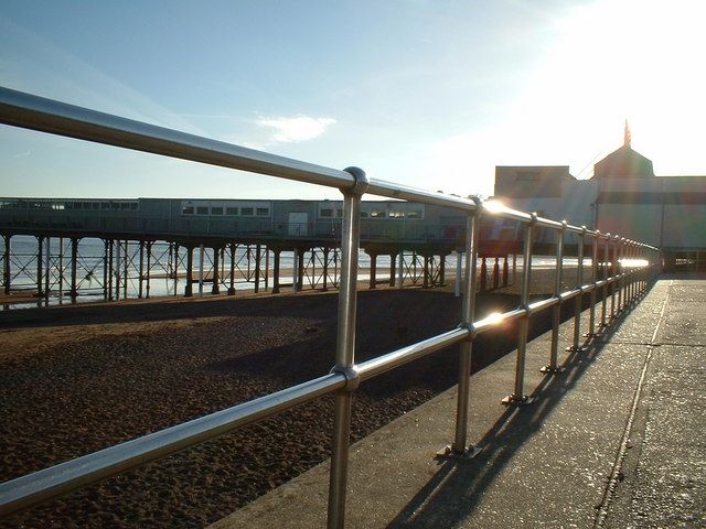 Stainless Steel Railings and the Pier, Teignmouth