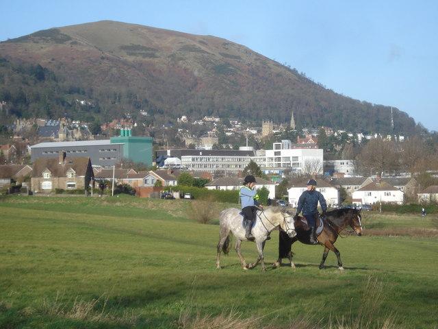 Horse riding on Malvern Common