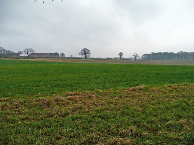 Over fields to Balterley Hall