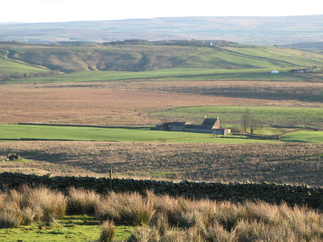 Moorland and pastures above War Carr