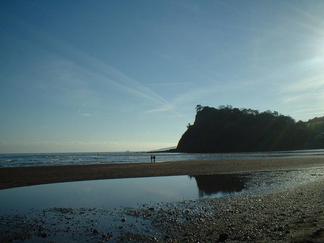 The Ness, Shaldon from Teignmouth beach