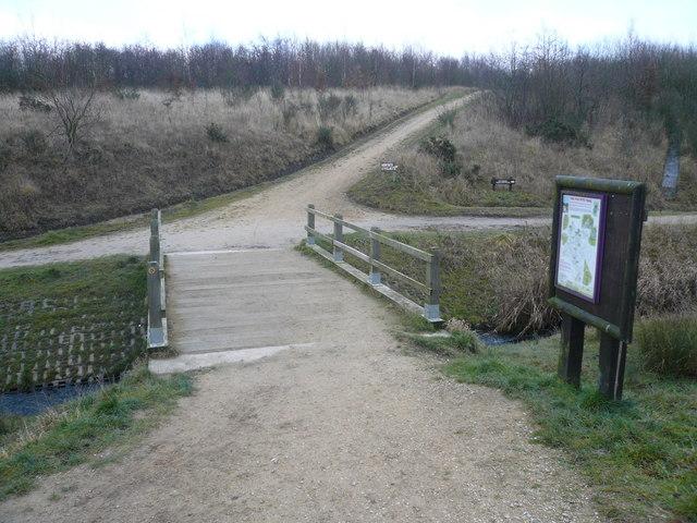 Williamthorpe Ponds Nature Reserve - Meeting of Footpaths