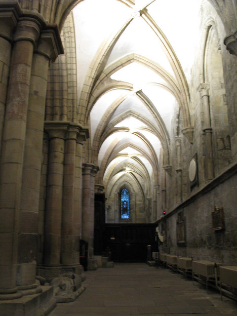 Passageway to the south of the Choir, Hexham Abbey