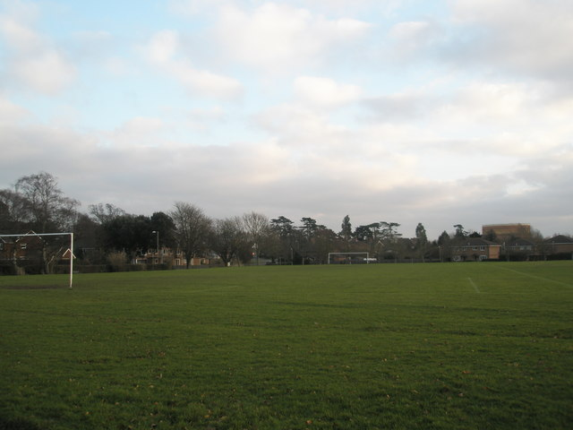 Football pitch in Emsworth Park