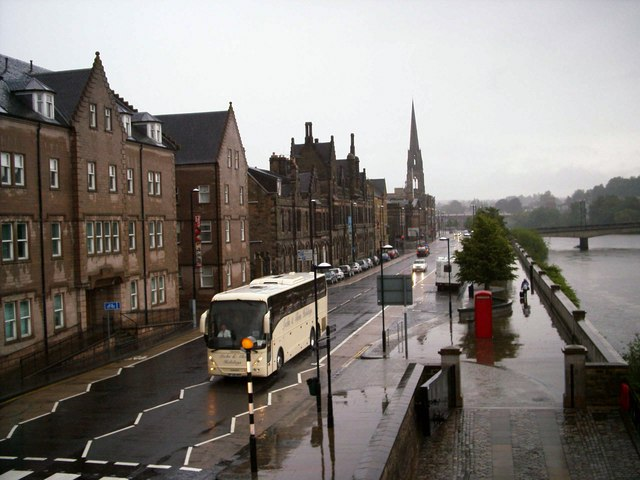 A Rainy Day in Tay Street, Perth.