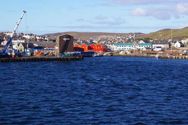 Approaching Lerwick by Ferry