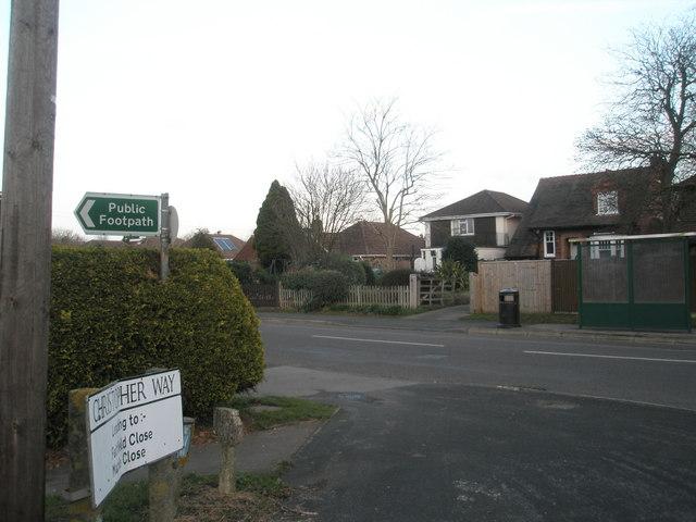 Bus stop in New Brighton Road