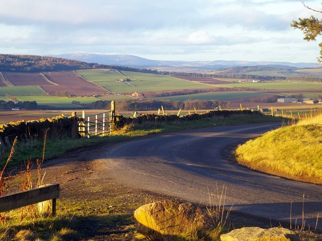 View from Carrot Hill, Angus