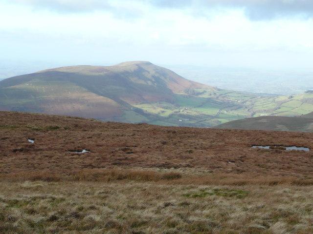 View north-west of Pen Twyn Glas