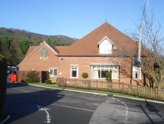 The clubhouse at the Worcestershire Golf Club