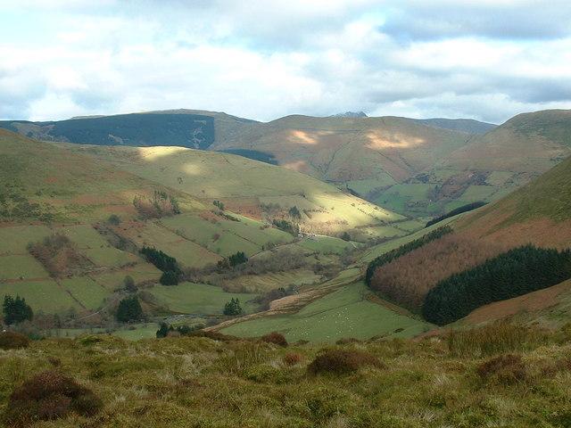 Bwlch Siglen looking north