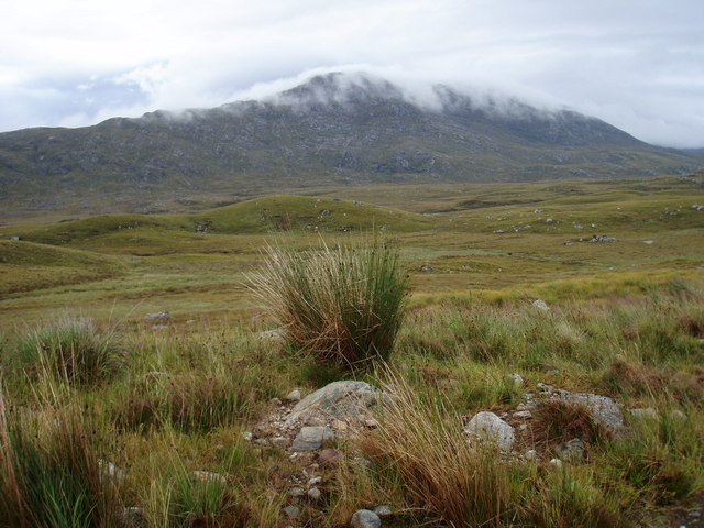 View over tributary of Little Gruinard