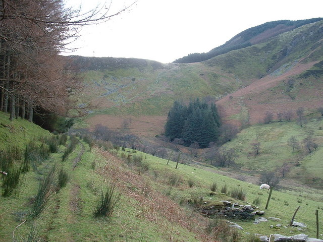 Bwlch Siglen from the valley