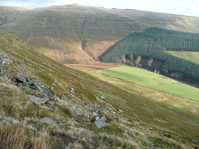 Across the Grwyne Fechan valley.