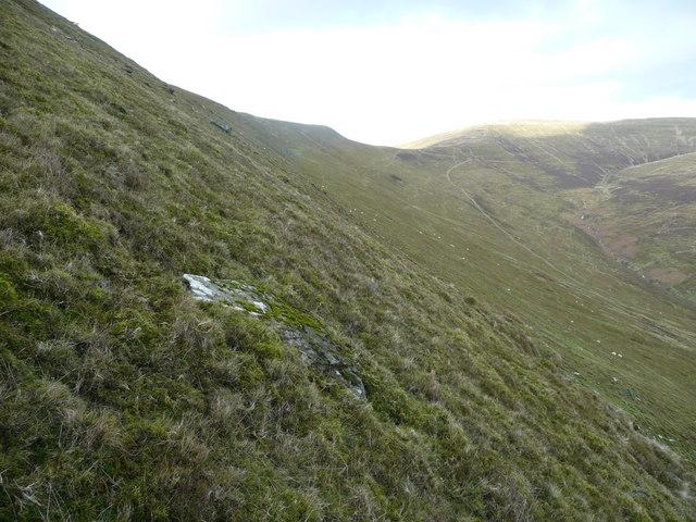 North-east slope of Mynydd Llysiau