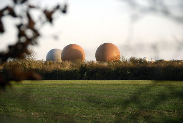 Radar domes, near Croughton