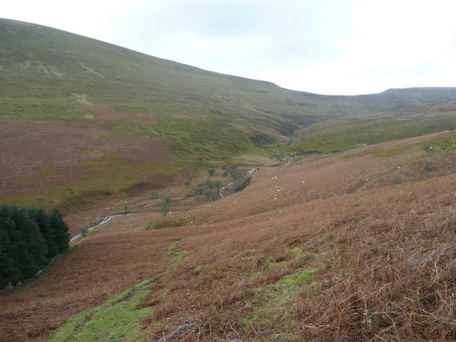 View across the Grwyne Fechan valley