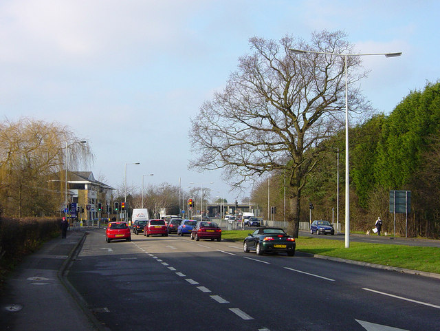 Junction of Frimley Road and Lyon Way