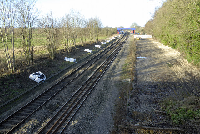 Railway line south of King's Sutton station