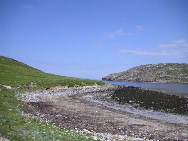 Across Caolas Bhatarsaigh, Vatersay