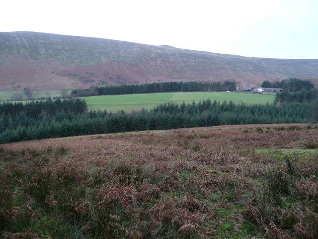 View across the Grwyne Fechan valley