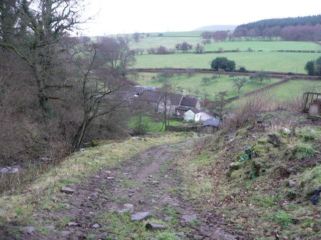 Track above Cwm Farm
