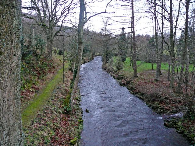 The Grwyne Fawr - view downstream