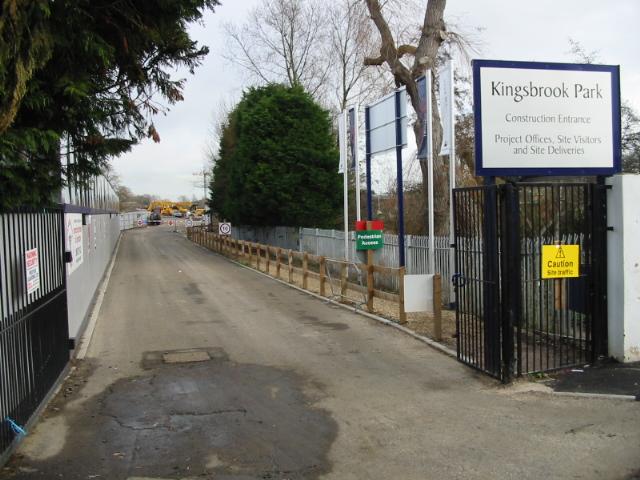 Site entrance to Kingsbrook Park