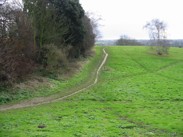 Unofficial footpath on St Martin's Hill