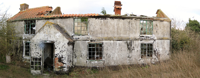 Derelict house, desolate location