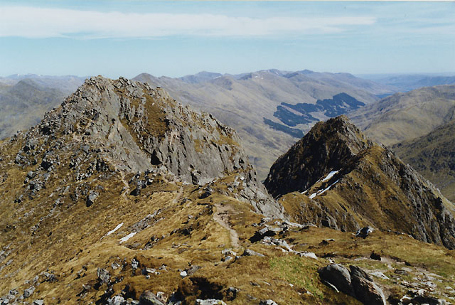View towards Sgurr na Forcan from the Saddle