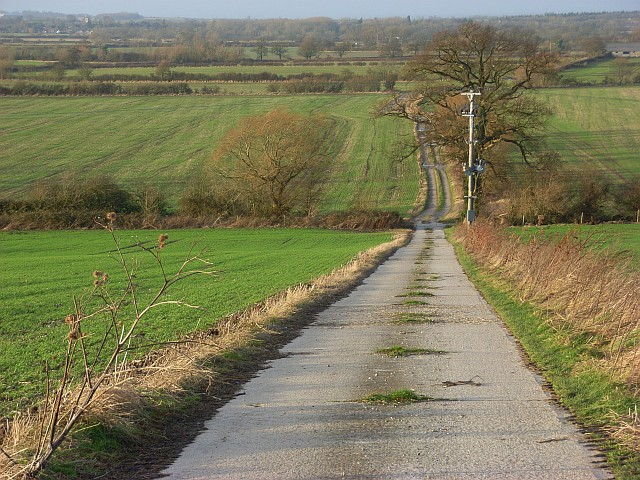 Farm road, Odstone Farm