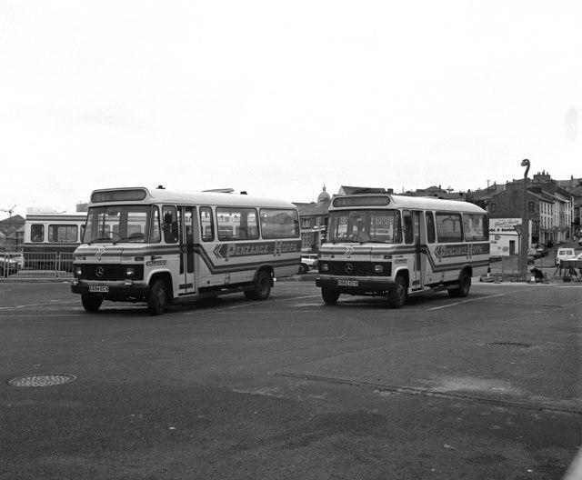 'Hoppa' buses at Penzance
