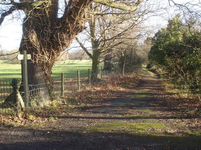 Footpath from Malvern Wells