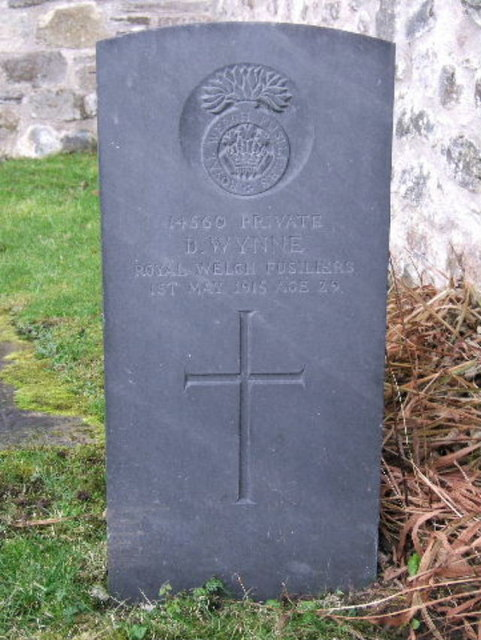Grave of private D. Wynne