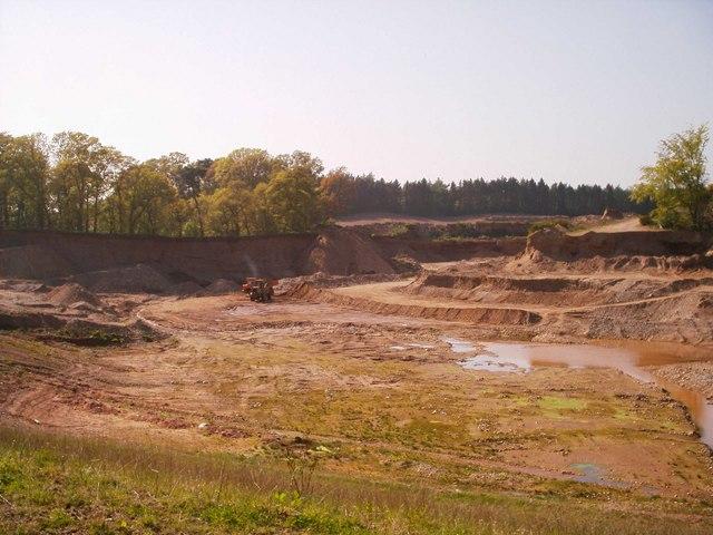 Sand Quarry near Stannochy, Brechin