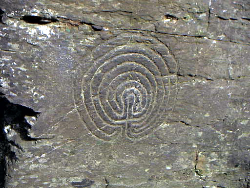 Rock Carving - Rocky Valley near Tintagel