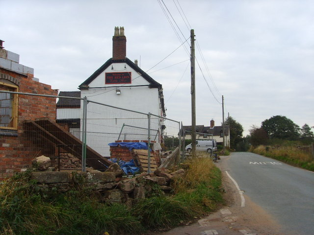 Building work at the Red Lion
